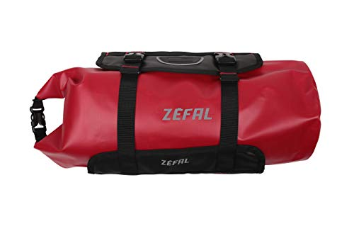 ZEFAL Z Adventure Sacoche de Guidon Bikepacking 10L - Universelle & Etanche Mixte Adulte, Noir/Rouge, F10