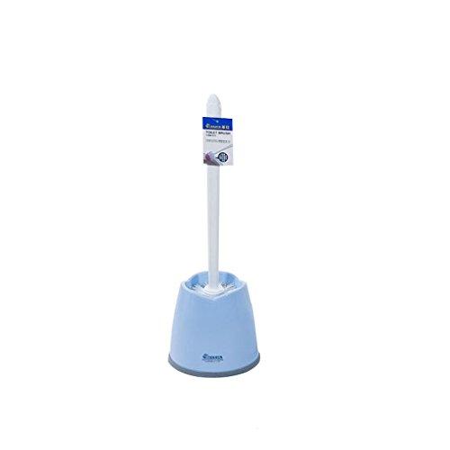&brosse de toilette Salle de bains porte-brosse de toilette brosse de nettoyage en plastique à long manche brosse de toilette brosse de toilette (Couleur : Blue)