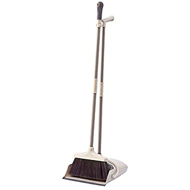 SANGFOR Broom and Dustpan Set Long Handle Dustpan and Lobby Broom Combo Upright Grips Sweep Set with Broom