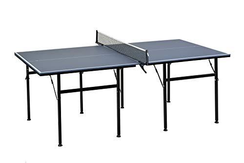BUSDUGA Tischtennisplatte 206 x 115cm, Indoor Platzsparend, stabil und solide, Tischtennistisch