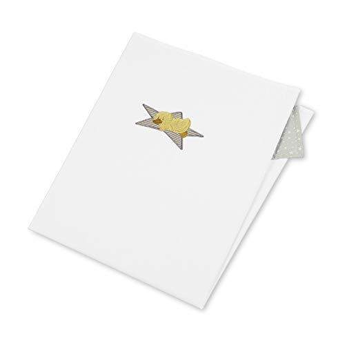 Sterntaler UV-Decke Ente Edda, Alter: Für Babys ab der Geburt, 70 x 100 cm, Weiß/Grau