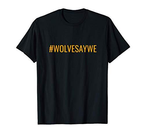 #WOLVESAYWE Wolves Wolverhampton Wulfrunian Gold Maglietta