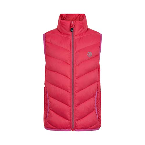 Color Kids Girls Waistcoat Packable Quilted Down Vest, Beet Red, 152