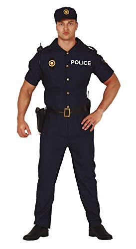 Fiestas Guirca Costume da Poliziotto di quartiere Americano Uomo