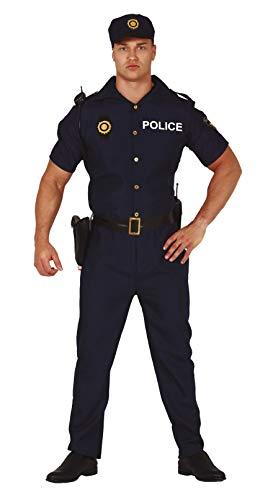 FIESTAS GUIRCA Disfraz de polica de Hombre de Barrio Americano