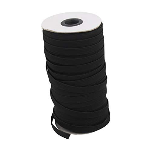 Faplu クラフト製品のゴムバンド, フェイス顔の保護幅のゴムひも用ゴムバンド幅10m / 3mmの弾性ロープ家庭用自作服縫製丈夫な編みベルトゴムバンド