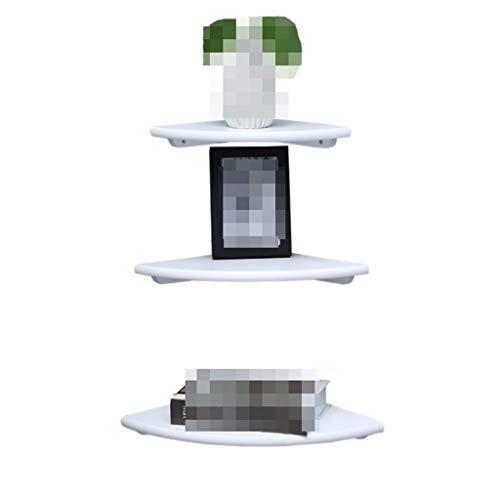 Estante de Pared Estantes flotantes Estante de Pared Estante de Madera Maciza Estante Moderno Industrial Estar en casa, 22 cm, 25 cm, 30 cm, Blanco Estantes Flotantes