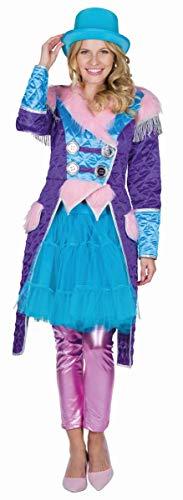 Mottoland Disfraz de mujer con abrigo acolchado rosa para carnaval, talla 46