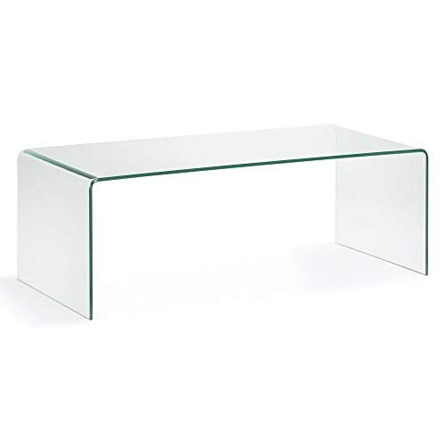 Kave Home - Table Basse Burano en Verre trempé et Transparent de Forme rectangulaire 110 x 50 cm