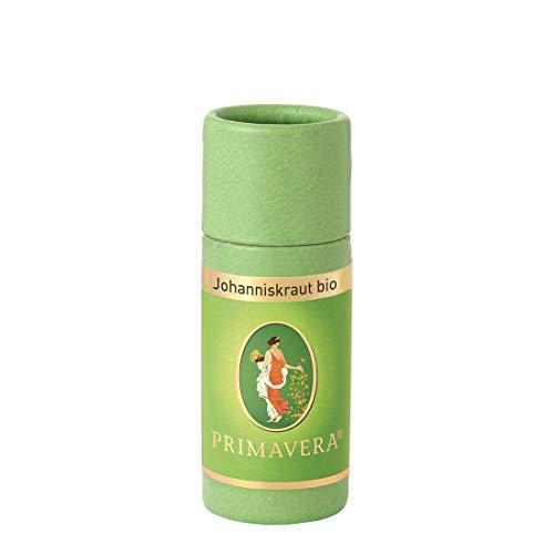 PRIMAVERA Ätherisches Öl Johanniskraut bio 1 ml - Aromaöl, Duftöl, Aromatherapie - ausgleichend, stimmungshebend - vegan