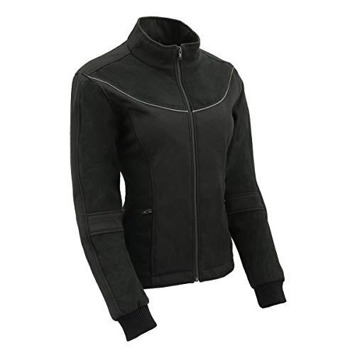 Milwaukee Leather MPL2780 Women's Black Textile and Fleece Combo Jacket - Large