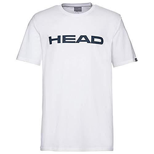 HEAD Club Ivan, T-Shirt Uomo, Bianco/Turchino, L