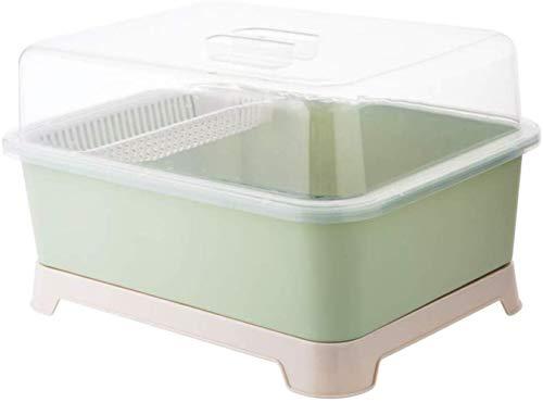 XXT Vaisselle domestique Puts Rack couverts égouttoir Boîte de rangement Égoutter rack à l'Art de la table Boîte de rangement de cuisine Armoire étagère (Color : Green)