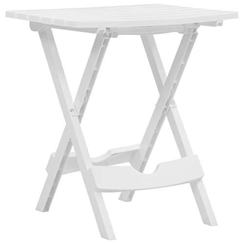 Goliraya Folding Garden Table Bistro Table Dining Set Garden Dinning Table 44,5 x 38,5 x 50 cm PP