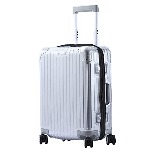 HYLL Luggage Cover, Original Suitcase Clear PVC Protector Transparent Protective Case with Black Zipper