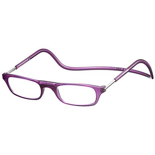 Clic Readers (クリックリーダー) リーディンググラス 老眼鏡 + 東レ トレシー クリーニングクロス セット (マットパープル,+1.50)