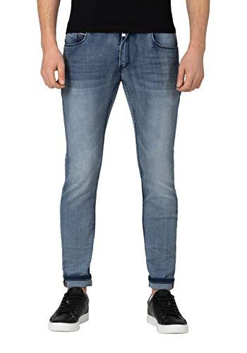 Timezone Herren Slim Scotttz Skinny Jeans, Blau (Antique Blue wash 3636), 33W / 32L