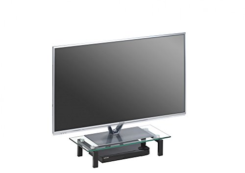 MAJA Möbel Media TV-Board, Glas, Schwarz, 600 x 125 x 280 mm