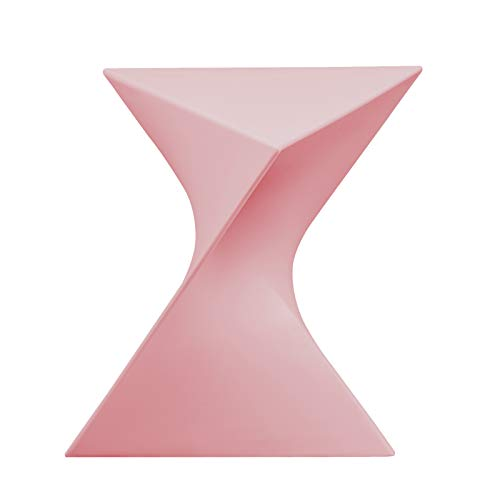 LeisureMod Randolph Modern Accent End Table Side Table in Pink