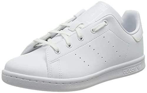 adidas Stan Smith J, Scarpe da Ginnastica, Ftwr White/Ftwr White/Ftwr White 20, 38 EU