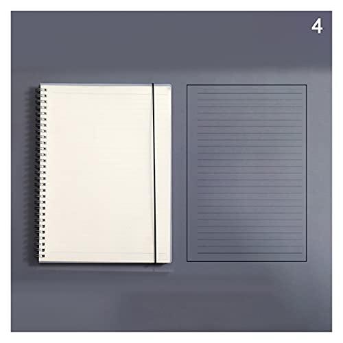 siqiwl Cuaderno Cuaderno de Hojas Sueltas Recambio carpolla Espiral Página Interna Diario Línea de Dot Grid (Color : A4)