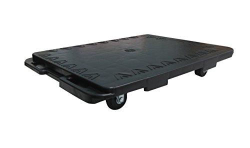 T-EQUIP SKMW-ID-S, carrello da trasporto, capacità 150 kg, L x P x A: 480 x 380 x 85 mm, per spostare mobili, universale, espandibile, colore nero