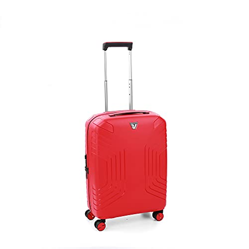 Roncato Ypsilon Maleta Cabina avión Expansible Rojo, Medida: 55 x 40 x 20/25 cm, Capacidad: 40/47 l, Pesas: 2.7 kg, Maleta Cabina avión ryanair