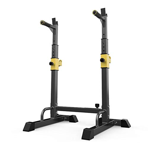 Yinguo Adjustable Olympic Squat Rack, Power Stands Barbell Free Bench Press Weight, Heavy Duty Dipping Station Weight Lifting Men Women Indoor Home Gym Fitness, Dumbbell Storage Racks, Max Load 551LBS