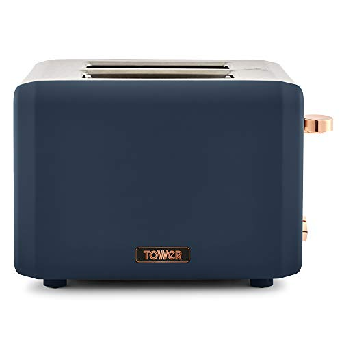 Tower Cavaletto 2 Slice Toaster 850 W - Midnight Blue/Rose Gold