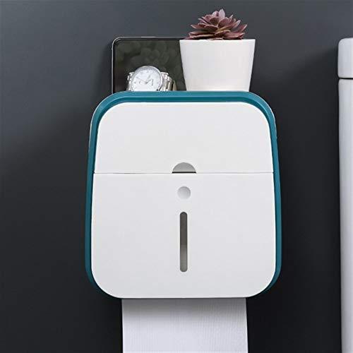 Papel higiénico titular a prueba de agua del inodoro montado en la pared del tubo del rollo de papel Bandeja de bandeja de la caja de almacenamiento caja de pañuelos de baño estante del producto