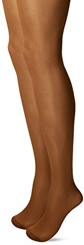 Nur Die Damen 2Er Figura Strumpfhose, 25 DEN, Braun (Bronze 213), Small (Herstellergröße: 40) 2er Pack