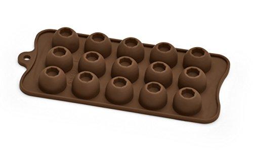 Bialetti Dolche Chef Stampo per Cioccolatini Cupole, Silicone, Marrone