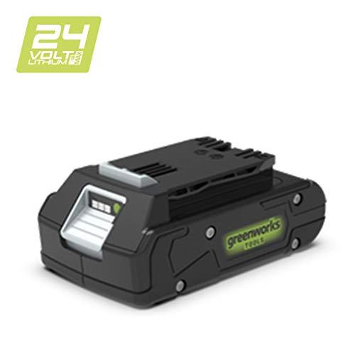 Greenworks Tools Akku G24B2 (Li-Ion 24 V 2,0 Ah wiederaufladbarer leistungsstarker Akku passend für alle Geräte der 24 V Greenworks Tools Serie)