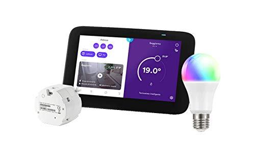 Homix - Smart Home Hub con Alexa Integrata – Termostato Intelligente + Lampadina Multicolore