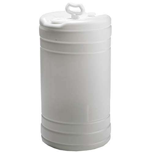 'Hudson Exchange 15 Gallon Tight Head Drum with 2'' & 3/4'' Fittings, UN Rated, HDPE, Natural' (3020)