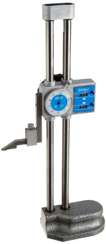 Fowler - 52-174-212-0 52-174-212 Chrome Plated Twin Beam Dial Height Gage, 12' Max Measuring, 0.001' Graduation
