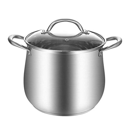 CJTMY Stock Pot Nickel Free Stainless Steel -Saucepan with Lid - Soup Pot Small Cooking Pot Quart (Size : 21cm)