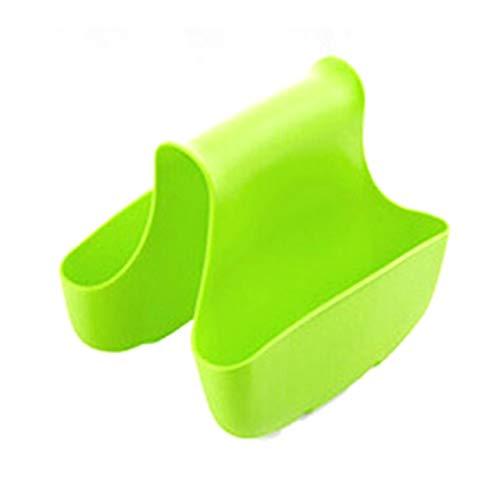 Fregadero de cocina esponja de almacenamiento de la bolsa de drenaje de la silla estilo de dos usos de la cesta de drenaje de residuos