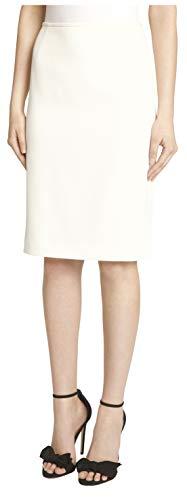 Tahari ASL Women's Petite Pencil Skirt, Ivory, 6P