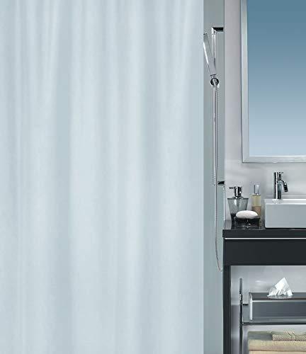 """Spirella Anti-Schimmel Duschvorhang - Anti-Bakteriell, waschbar, wasserdicht - Polyester, """"Primo Bioactive """" 180x200cm Weiß"""