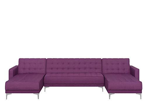 Canapé d'angle Tissu Pas cher Panoramique Violet