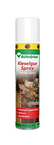 Röhnfried Kieselgur Spray 400 ml | Insektenspray | Kieselgur-Spray gegen Vogelmilben, Ameisen, Spinnen & Insekten | Ungezieferspray für Garten & Wohnung