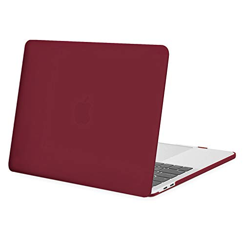 MOSISO MacBook Pro 13 inch Case 2020 2019 2018 2017 2016 Release A2338 M1 A2289 A2251 A2159 A1989 A1706 A1708, Plastic Hard Shell Case Cover Compatible with MacBook Pro 13 inch, Wine Red