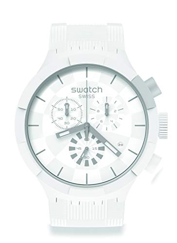 Reloj Swatch Big Bold Chrono SB02W400 Chequered White