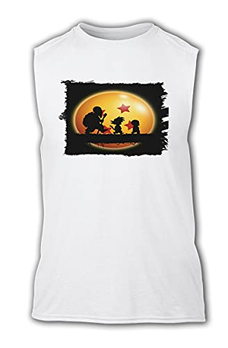 Camiseta SIN Mangas Bola DE Dragon Krilin Goku Maestro Tshirt