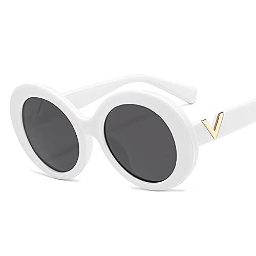 AMFG Gafas De Sol Ovaladas De Marco Grande For Hombres Y Mujeres Retro Gafas De Sol (Color : C)