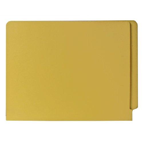 Smead End Tab File Folder, Shelf-Master Reinforced Straight-Cut Tab, Letter Size, Yellow, 100 per Box (25910)