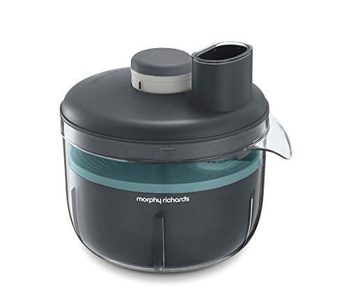 Morphy Richards Prepstar 401014 Robot de cuisine compact sans BPA 4 l Capacité 1,6 l 6 positions Gris