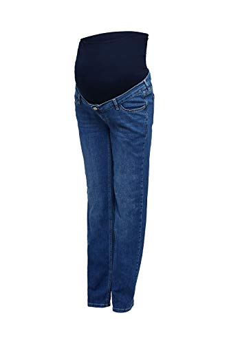 ESPRIT Maternity Damen Pants Denim OTB Straight Umstandsjeans, Blau (Medium Wash 960), 42