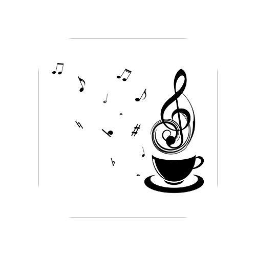 Kinder Wandaufkleber Schlafzimmer |Kaffee Musik Note Tassen Cafe Tee Wandaufkleber Art Decal Küche Restaurant Pub Home Decor Wallpaper Entspannen Sie Mutter Geschenk-Schwarz-